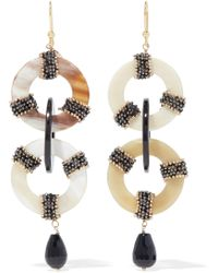 Rosantica - Martini Gold-tone, Resin And Bead Earrings - Lyst