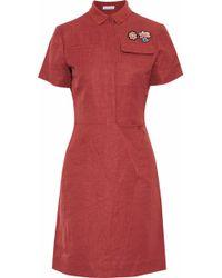 Tomas Maier - Appliquéd Crinkled Woven Shirt Dress - Lyst