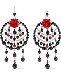 Ben-Amun - Silver-tone, Bead And Resin Earrings - Lyst