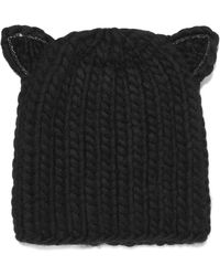 Eugenia Kim - Felix Crystal-embellished Cable-knit Wool Beanie - Lyst