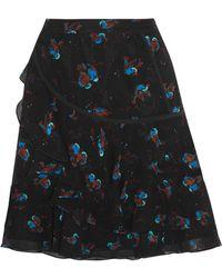 COACH - Tiered Printed Crinkled-silk Mini Skirt - Lyst