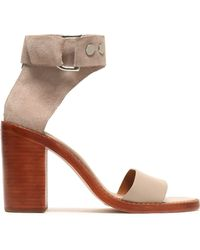 Zimmermann - Suede And Leather Sandals - Lyst