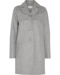 Carven - Wool-blend Felt Coat Light Gray - Lyst