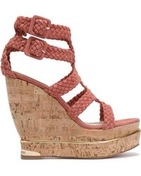 Paloma Barceló - Suede Wedge Sandals - Lyst