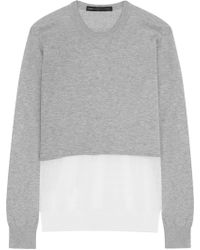 Marc By Marc Jacobs - Papillon Crochet Knit-paneled Marled Cotton Jumper - Lyst
