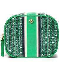 Tory Burch - Printed Cotton-twill Cosmetics Case - Lyst