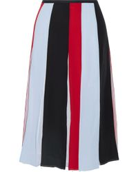 Gabriela Hearst - Victoria Pleated Striped Silk-crepe Skirt - Lyst