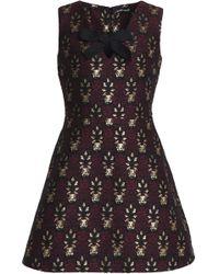 Markus Lupfer - Metallic Jacquard Mini Dress - Lyst