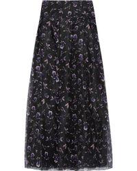 Noir Sachin & Babi - Blanca Floral-print Voile Maxi Skirt - Lyst