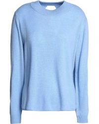 Michelle Mason | Wrap-effect Merino Wool And Cashmere-blend Jumper Sky Blue | Lyst