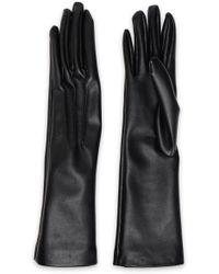 Stella McCartney - Woman Faux Leather Gloves Black - Lyst