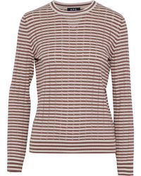 A.P.C. - Striped Pointelle-knit Cotton, Silk And Cashmere-blend Sweater - Lyst