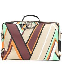 Emilio Pucci - Crystal-embellished Printed Textured-leather Suitcase - Lyst