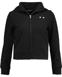 Marc By Marc Jacobs - Embellished Cotton-jersey Hooded Sweatshirt - Lyst