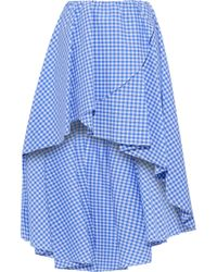 Caroline Constas - Adelle Asymmetric Gingham Ruffled Wrap Mini Skirt - Lyst