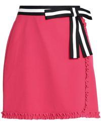 Raoul | Ruffled Color-block Crepe De Chine Mini Skirt | Lyst