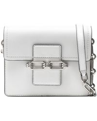 Michael Kors - Chain-embellished Leather Shoulder Bag - Lyst