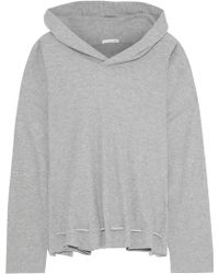 Skin - Waffle-knit Cotton-blend Hooded Pajama Top - Lyst