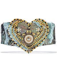 Reem Acra - Embellished Fil Coupé Jacquard Waist Belt - Lyst