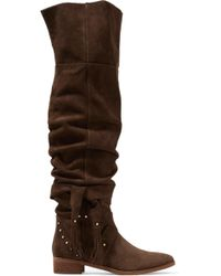 See By Chloé - Dasha Dakar Studded Suede Over-the-knee Boots - Lyst