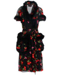 Simone Rocha - Feather-trimmed Embroidered Cotton-blend Tulle Midi Dress - Lyst