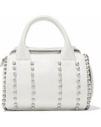 Alexander Wang - Studded Textured-leather Shoulder Bag - Lyst