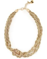Rosantica Knotted Gold-tone Chain Necklace Gold