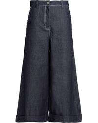 House of Holland - Flared Denim Culottes - Lyst