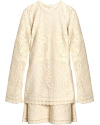 c02c235a Lyst - Le Bon Marche x The Webster Chloé Ruffled Dress in White