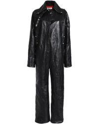 Acne Studios - Leather Jumpsuit - Lyst