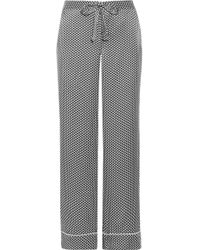 Equipment - Avery Printed Washed-silk Pyjama Trousers - Lyst