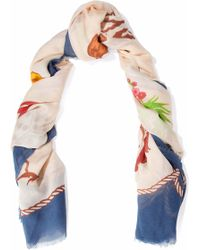 Stella McCartney - Fringed Printed Modal And Silk-blend Scarf - Lyst