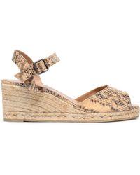 Castaner - Snake-print Faux Leather Espadrille Wedge Sandals - Lyst