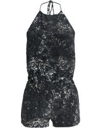 Mikoh Swimwear - Leopard-print Silk Crepe De Chine Halterneck Playsuit - Lyst