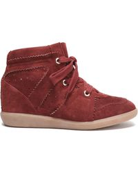 Étoile Isabel Marant - Perforated Suede Wedge Sneakers - Lyst