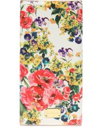 Dolce & Gabbana - Floral-print Textured Leather Phone Case - Lyst