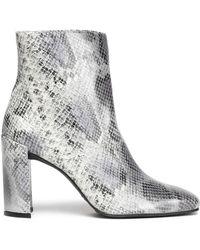 Stuart Weitzman - Vigor Snake-effect Leather Ankle Boots - Lyst