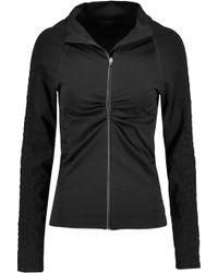Yummie By Heather Thomson | Vera Croc Effect-trimmed Stretch-jersey Jacket | Lyst