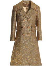 Michael Kors - Wool-blend Brocade Coat - Lyst