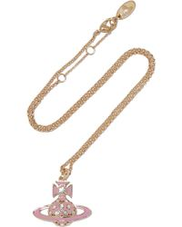 Vivienne Westwood Anglomania | Brianna Gold-tone Crystal And Enamel Necklace | Lyst