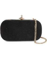Vivienne Westwood Anglomania - Angel Glittered Leather Clutch Bag - Lyst