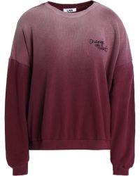 535f6bba LNA - Woman Embroidered Dégradé Cotton-fleece Sweatshirt Plum Size S - Lyst