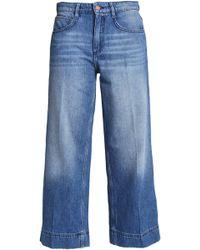 Ba&sh - Woman High-rise Wide-leg Jeans Mid Denim - Lyst