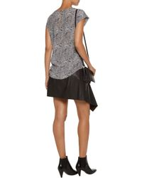 Joie - Rancher Printed Washed-silk Top - Lyst