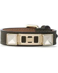 Proenza Schouler - Lizard-effect Leather, Silver And Gold-tone Bracelet - Lyst