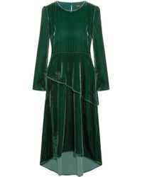 Maje - Velvet Midi Dress - Lyst