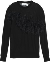 Marques'Almeida - Feather-embellished Knitted Top - Lyst
