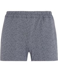 Prism - Printed Stretch-jersey Shorts Dark Green - Lyst