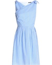 Raoul - Wrap-effect Gingham Cotton-poplin Mini Dress - Lyst