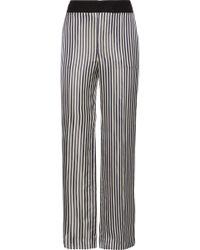 Lanvin - Striped Satin-jacquard Wide-leg Trousers - Lyst